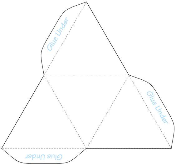 printable #templatesPyramid Box Template Stained Glass - pyramid template