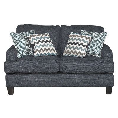 Brighton Navy Upholstered Casual Contemporary Loveseat