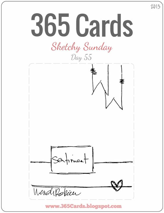 365 Cards: Day 55 - Super Sketchy Sunday
