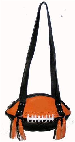 Black & Orange Football Shoulder Bag.  Buy it @ ReadyGolf.com