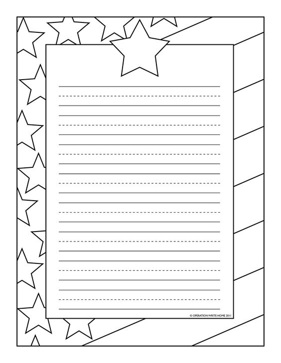 Coloring pages  Stationary Operation Write Home Fourth of July - community service letter