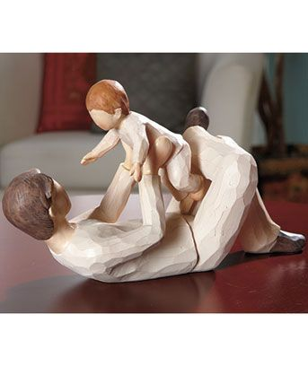 These look like Willow Tree figurines but are WAY cheaper.  So cute