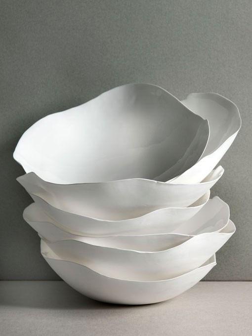 """""""flower petals"""" porcelain bowls"""