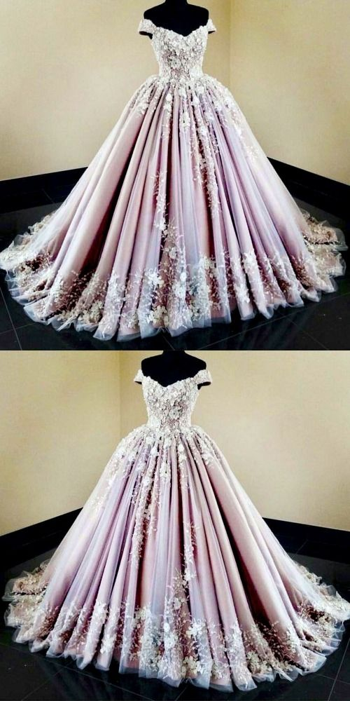 Beautiful Wedding Dresses Off The Shoulder Ball Gown Long Train Lace Big Bridal Gown Jkw276 Wedding Dresses Unique Ball Gowns Unique Wedding Dresses Color