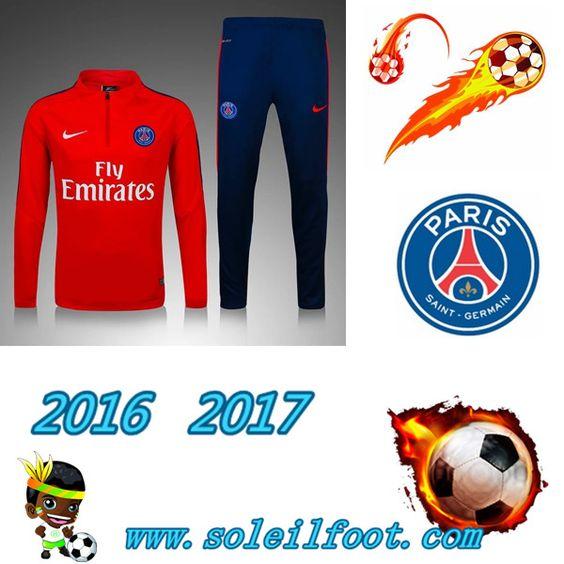 League 1: Survetement De Foot Saint Germain Paris Enfant Rouge saison 16 17…
