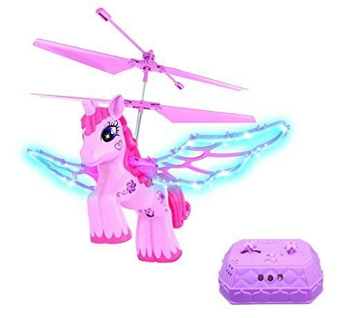 Horse Toys Rc Pink Unicorn Helicopter Girls Pony Games Flapping