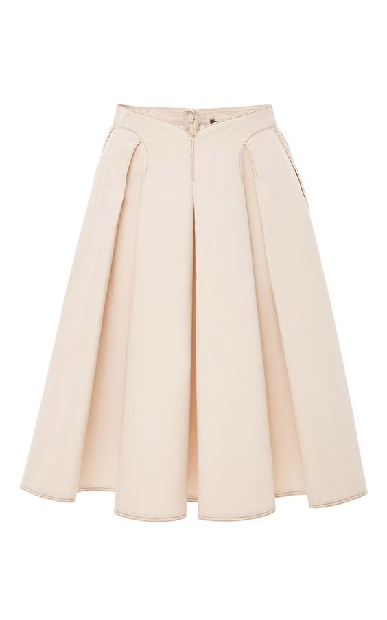 Pleated Midi Skirt by ZAC POSEN for Preorder on Moda Operandi