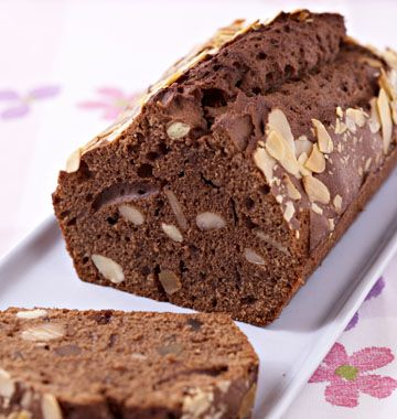 Cake au chocolat, amandes et oranges confites - les meilleures recettes de cuisine d'Ôdélices
