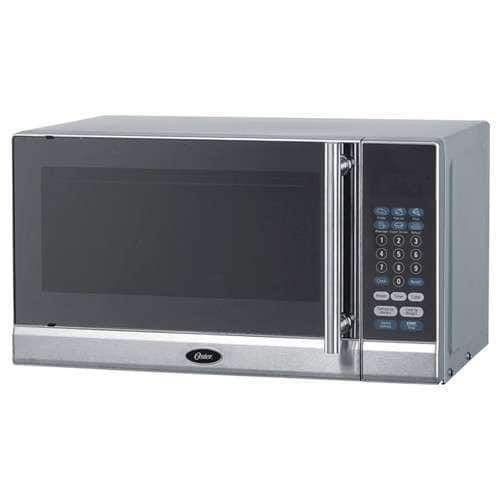 Oster Ogg3701 0 7 Cubic Foot Compact Microwave Oven Silver Stainless Steel