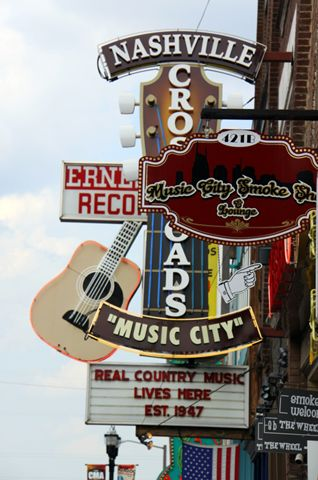 Music Row in Nashville, Tennessee (aka Music City) I can't wait till October and I get to see and experience this!!!!!!!!!!!! I'm so exited.