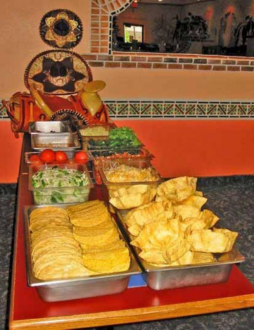 Taco bell restaurant copycat recipes home taco bar for Food bar party ideas