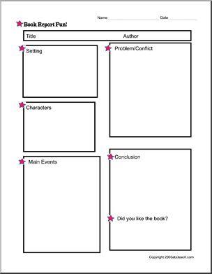 Mystery book report sheet