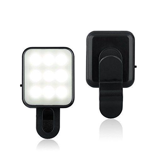 Bluebeach Mini Clip Sur Selfie Led Flash De Lumiere Photo Video Lampe Pour Smartphones Noir Lumiere Photo Flash Et Iphone