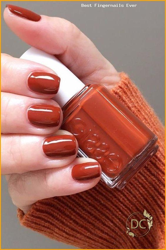 Burnt Orange Fall Nail Colors In 2020 Nail Colors Nail Polish Orange Nails