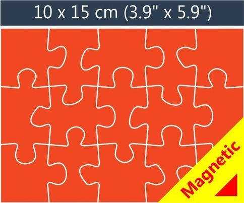 15 piece magnetic promotional jigsaw puzzle. Wedding invite idea!