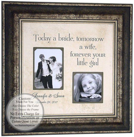 Gifts For Pre Wedding Bride: Wedding Gifts Parents Bride Groom MOM & DAD Sign Frame