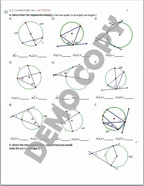 Angles In A Circle Worksheet Angles In A Circle Worksheet Lovely Circle Theorems Match Up In 2020 Angles Worksheet Circle Theorems Shapes Worksheets