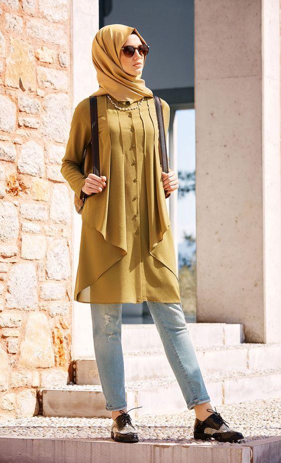 Model Jilbab Syar'i Terbaru 2016 : model, jilbab, syar'i, terbaru, Model, Kebaya, Modern, Berjilbab, Syar'i, Kuliahan, Pakaian,, Pakaian, Hijab,, Jalanan