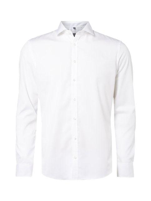 Slim Fit Business-Hemd mit New Kent Kragen Weiß - 1