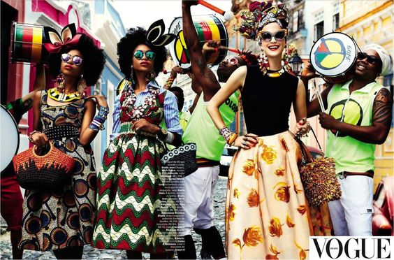 AFRICAN PRINT and AFROS, VOGUE BRAZIL