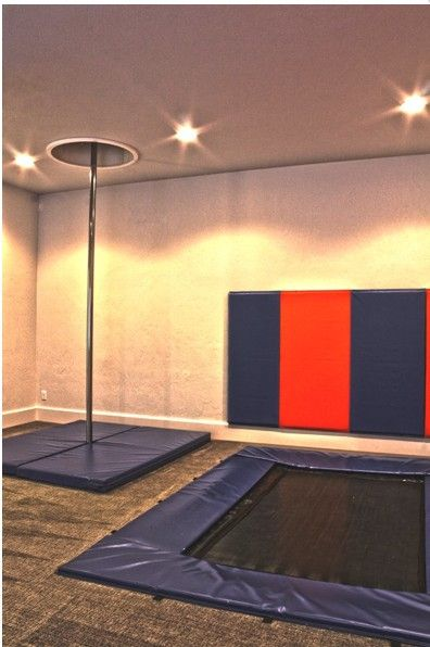 I love this as a secret room! The in floor trampoline is awesome. It's like an occupational therapy room and a fun room for all.
