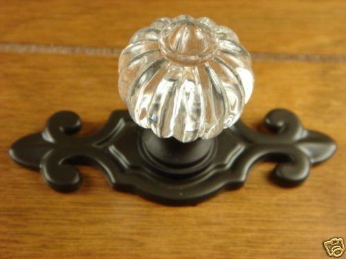 Cabinet Hardware Oil Rubbed Bronze Rome Knob Backplate | eBay ...