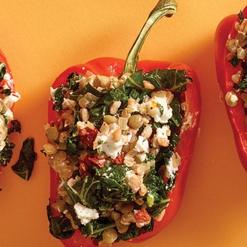 I M Checking Out A Delicious Recipe For Lentil And Farro Stuffed Peppers From Fry S Food Stores In 2020 Stuffed Peppers Peppers Recipes Dried Lentils