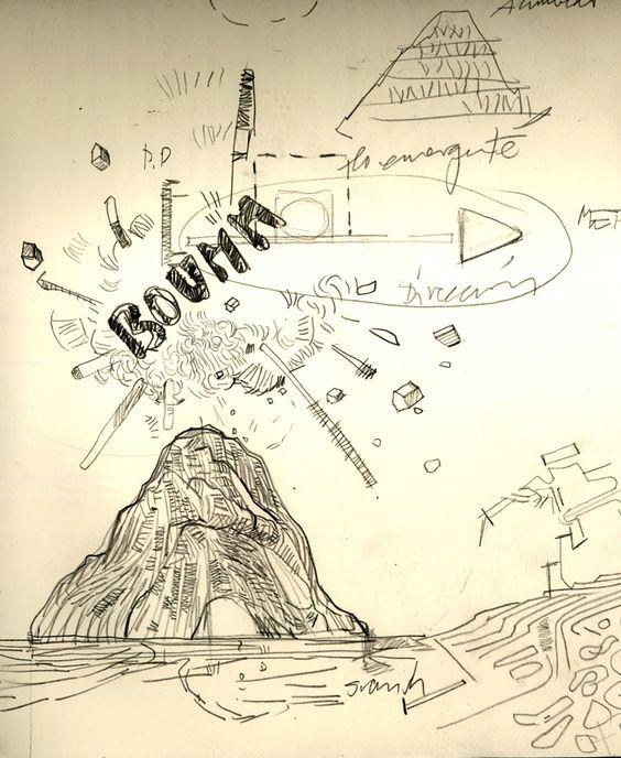 Ignacio Klindworth. Swish! Boceto proyecto DBM. Lápiz sobre papel. 21x30cm. Madrid 2010.