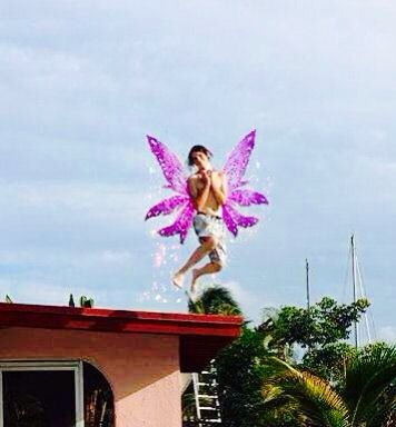 Katy photoshopped Jacob jumping off the roof. Great job!!!!! Lol