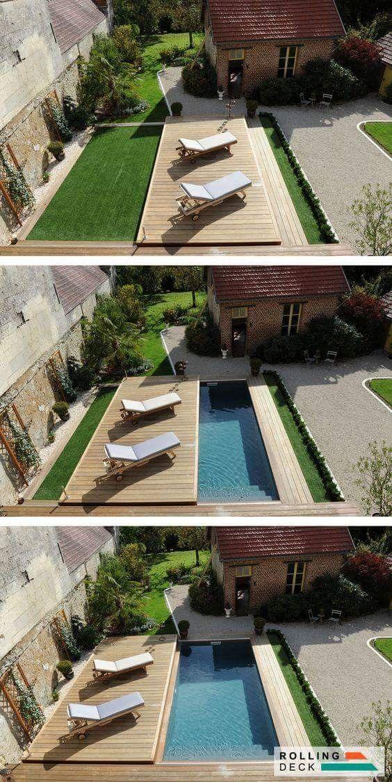 Brilliant Solution For Small Yards Or Safety Concerns Kleiner Garten Landschaftsbau Gartenpools Hinterhofideen