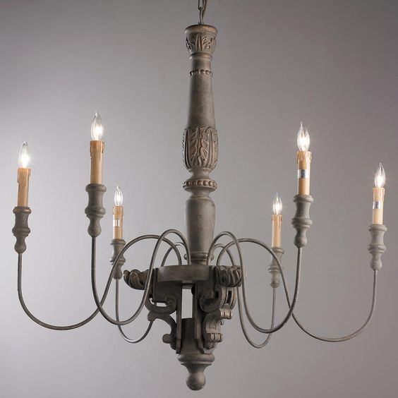Chateaus Chandeliers And Metal Spindles On Pinterest