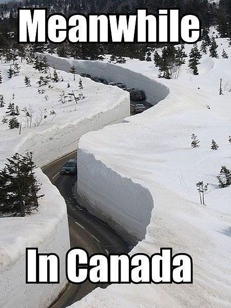 Meanwhile, in Canada…: Favorite Places Spaces, Deep Snow, Snow Road, Winter Wonderland, Meanwhile In