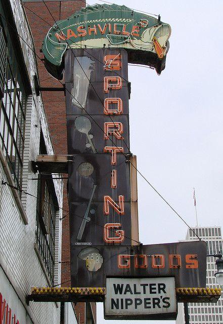 Nashville Sporting Goods. Old School Neon Sign!!!
