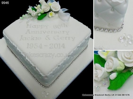 Diamond Wedding Anniversary Gift Ideas Uk : Wedding anniversary cakes, Anniversary cakes and Wedding on Pinterest