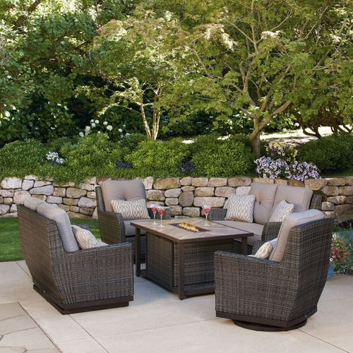 St Louis 5 Piece Fire Chat Set In 2020 Patio Outdoor Furniture