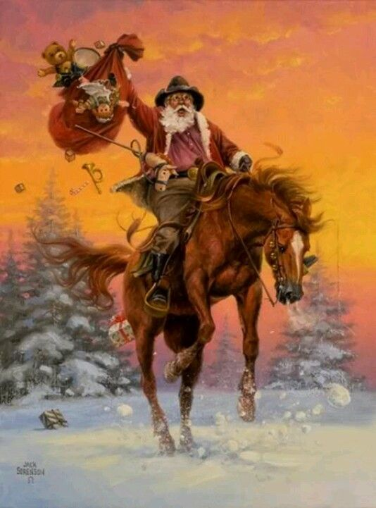 Cowboy Santa.