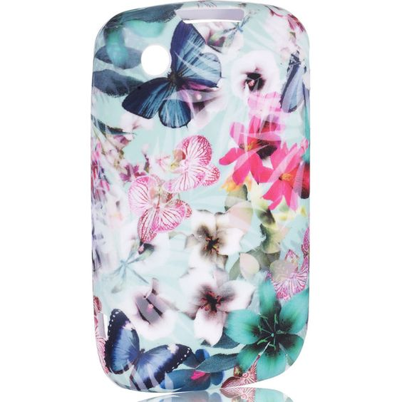 Accessorize Digital Butterfly Print Blackberry 8520 9300 ($20) ❤ liked on Polyvore