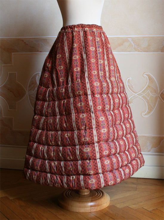 Quilted petticoat. This one has a much easier quilting pattern.