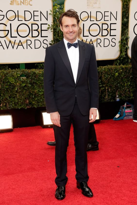 SNL alum Will Forte steps out in a Ralph Lauren Black Label Navy Tux on the red carpet at tonight\u0026#39;s Golden Globe Awards