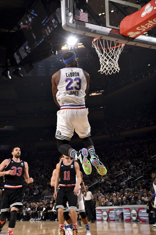 All Star Lebron James Kobe Bryant Dunk Lebron