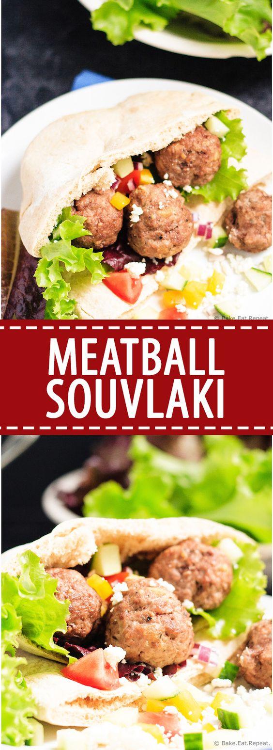 ... meatball souvlaki is full of Greek flavours, plus the meatballs freeze