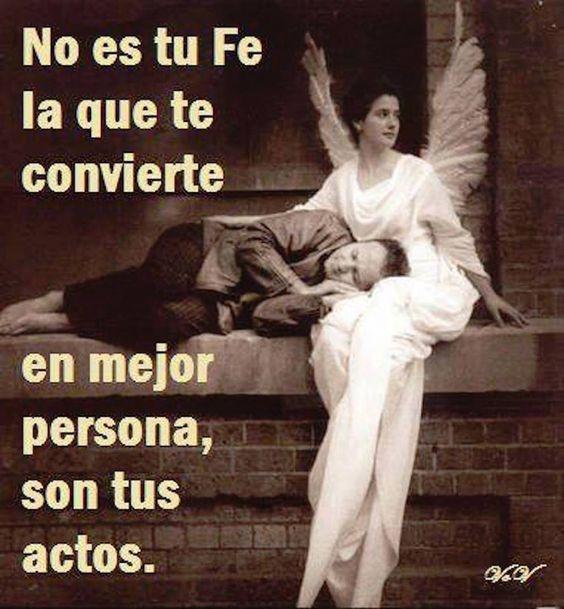 Es tu Fe la que te convierte.  www.oasisgonzalogallo.com