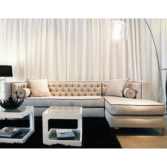Decenni Custom Furniture 8 Foot U0027Tobiasu0027 Bone Sectional | Overstock.com