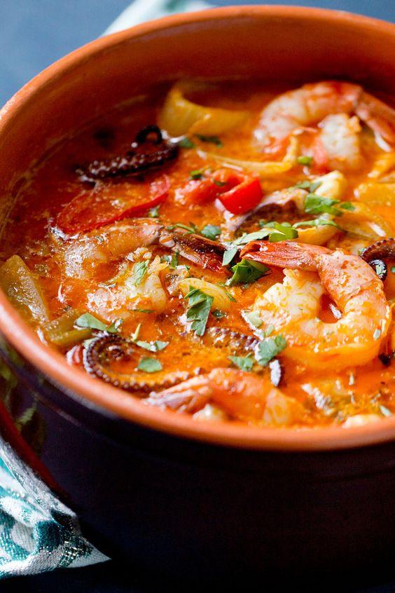 Moqueca (Brazilian Fish Stew) Recipe Fish Stew, Stew and