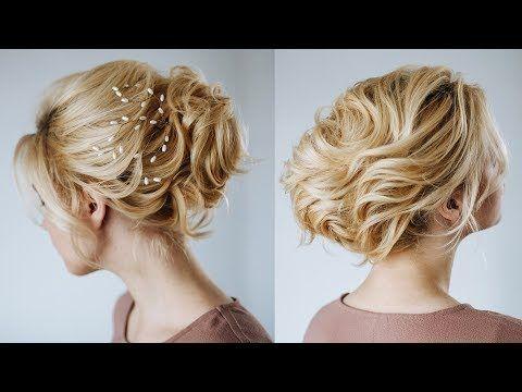 Short Hair Wedding Updo Hairstyles For Short Hair From Kukla Lu Youtube Short Hair Wedding Updo Wedding Hairstyles Updo Short Wedding Hair