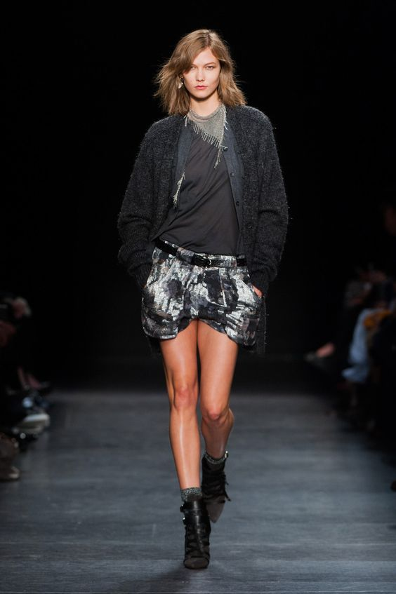 Isabel Marant | Paris | Inverno 2015 RTW (such a cool necklace. Karlie again <3)