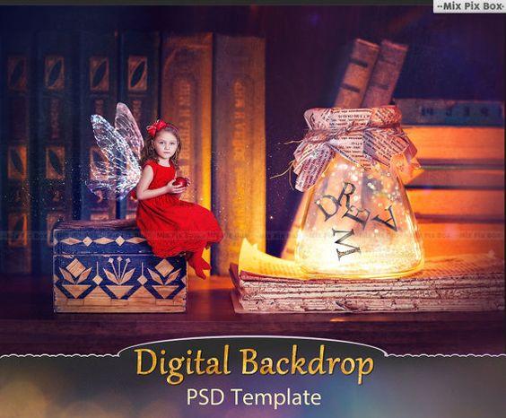Digital backdrop template scene Photoshop digital by MixPixBox