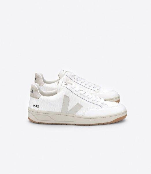Veja Sneaker Damen V 12 B mesh White Natural in 2020