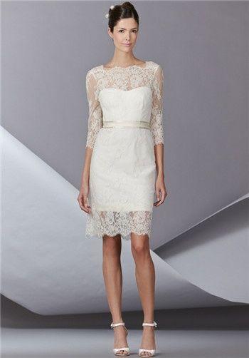 Carolina Herrera Bess Dress Details Lace 3 4 Sleeve