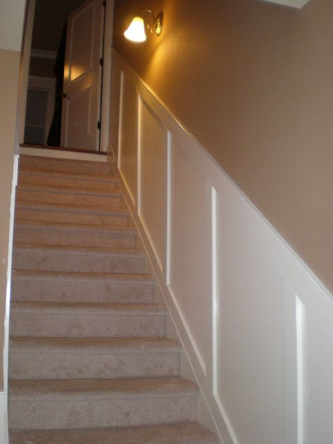 Basement Stair Trim: Board And Batten, Staircases And Crown Moldings On Pinterest